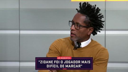 Em estreia no Seleção SporTV, Zé Roberto diz que Zidane foi o jogador mais difícil que já marcou