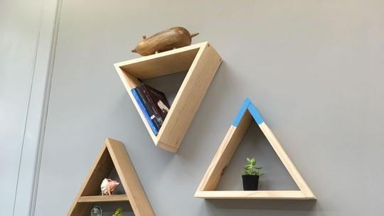 Confira a lista completa de materiais para criar prateleiras triangulares