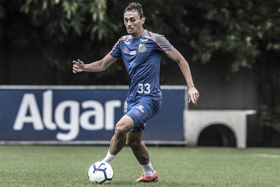 Diego Pituca não ficará à disposição no sábado — Foto: Ivan Storti/Santos FC