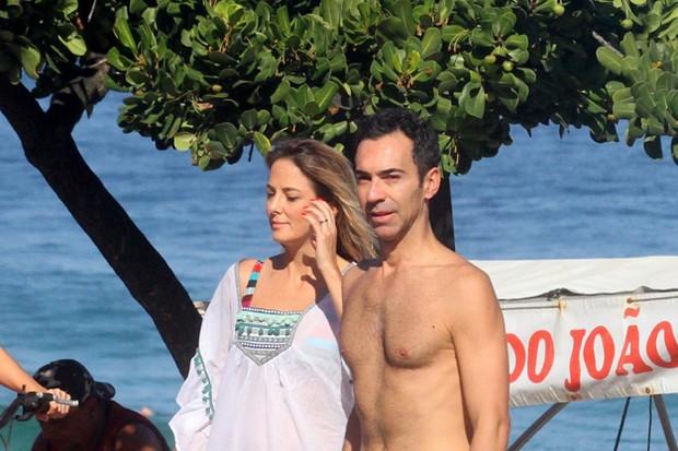 Ticiane Pinheiro e César Tralli (Foto: AgNews)