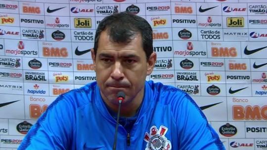 Corinthians treina na Arena, em Itaquera, antes de jogo contra o Botafogo; Carille explica escolha