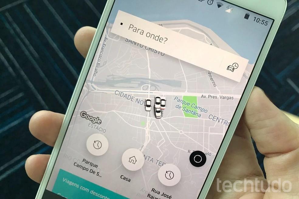 Uber tem opção de vale-presente para corridas (Foto: Carolina Ochsendorf/TechTudo)