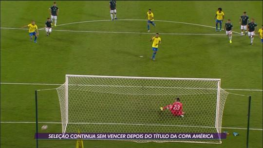 Após título na Copa América, Brasil segue sem vitória no amistoso internacional