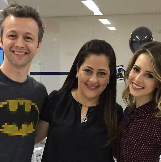Lucas Lima, Camila Costa e Sandy (Foto: Reprodução do Instagram de Camila Costa)