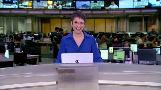 Sandra Annenberg se despede da bancada do Jornal Hoje