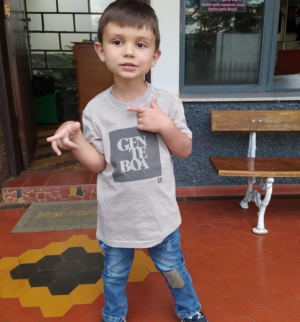 Francisco, de quatro anos, encontrou uma jararaca dentro do carro em Guaxupé (MG) — Foto: Tatiani Cristina Silva Cruvinel/arquivo pessoal