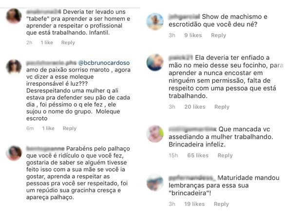 Fãs criticam atitude de Thiago Martins em show (Foto: Reprodução / Instagram)