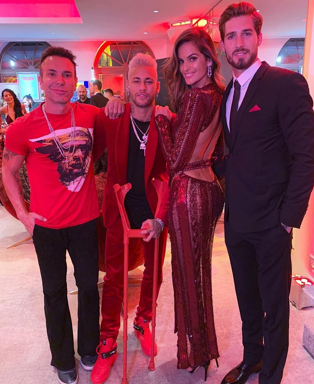 Matheus Mazzafera, Neymar, Izabel Goulart e Kevin Trapp (Foto: Reprodução/Instagram)