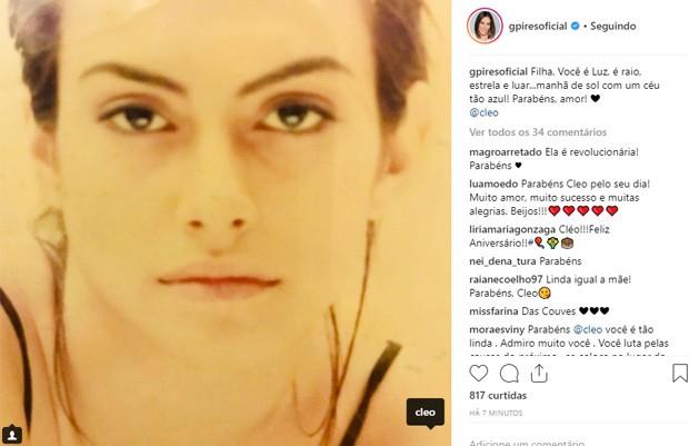 Gloria Pires parabeniza Cleo (Foto: Reprodução/Instagram)
