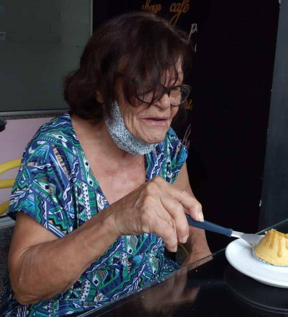 Ana Maria de Souza Fonseca, de 77 anos, vítima da Covid-19, teve corpo trocado com o de outra vítima — Foto: Reprodução/TV Gazeta