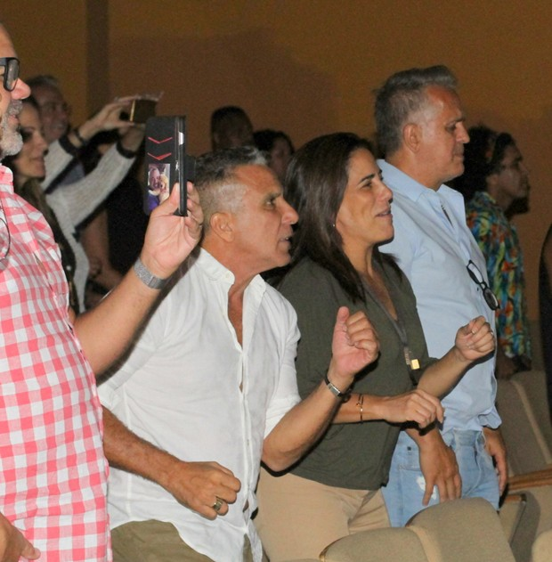 Eri Johnson, Gloria Pires e Orlando Morais (Foto: Wallace Barbosa/AgNews)