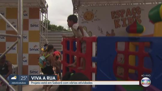 Sabará recebe atividades do Viva a Rua