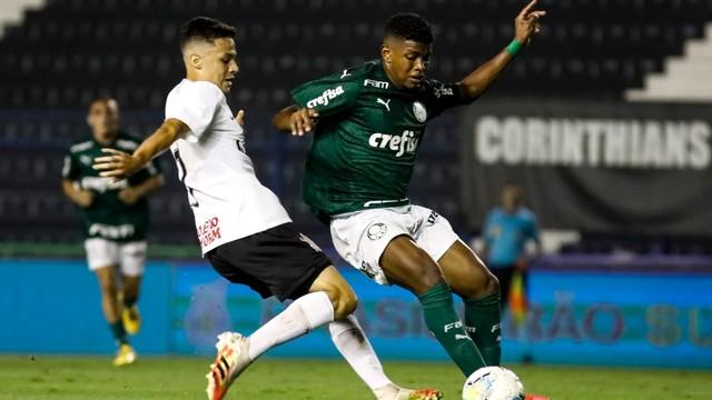 Palmeiras vence o Corinthians por 3 a 0, fora de casa, no Brasileiro Sub-20