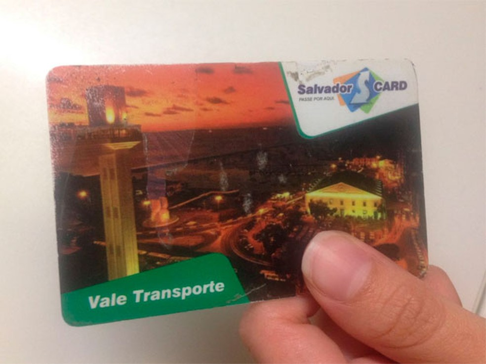 Cartão do SalvadorCard (Foto: Raphael Carneiro/Arquivo Pessoal)