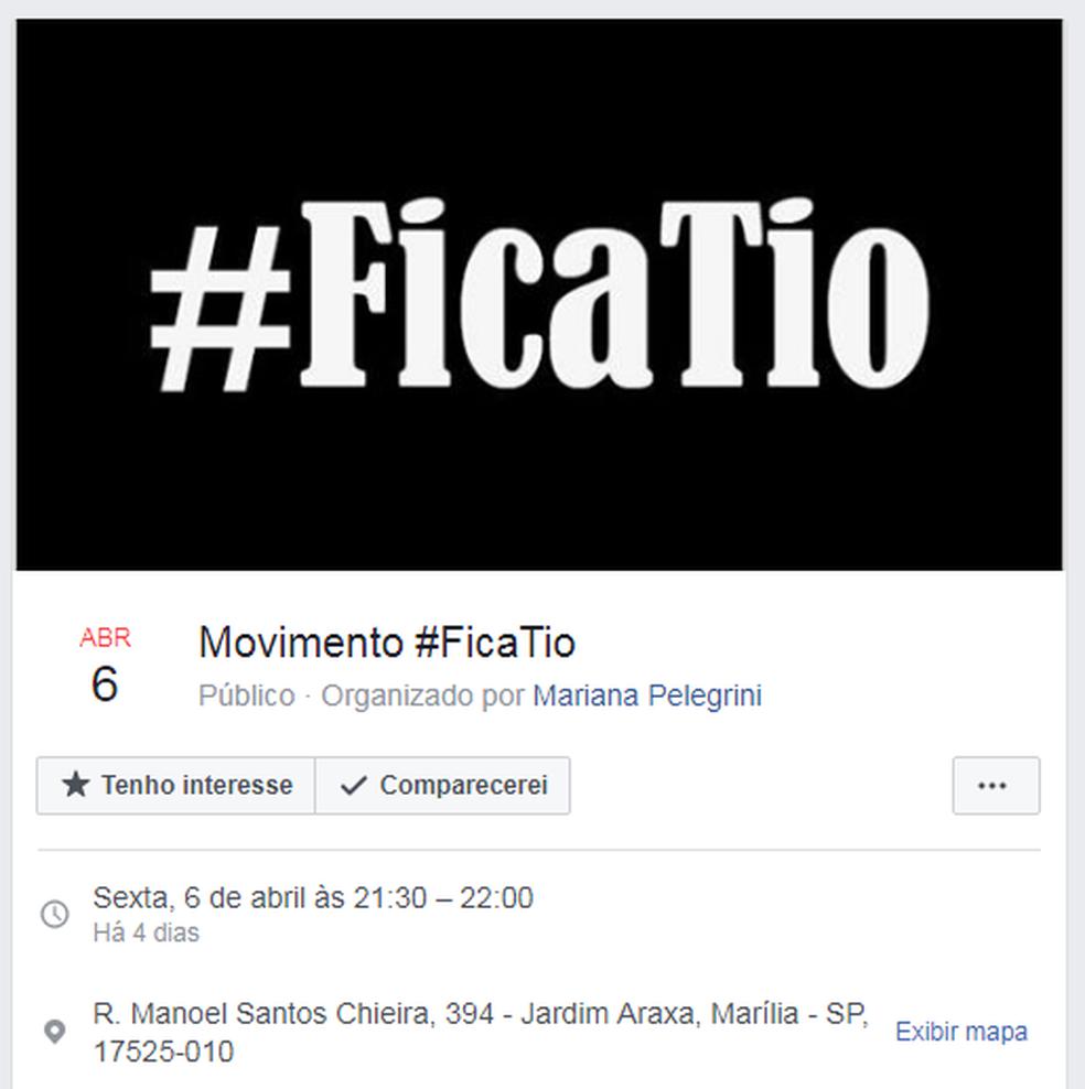 Movimento criado por estudantes contra a retirada de 'Tio' que vende salgados (Foto: Reprodução/Facebook)