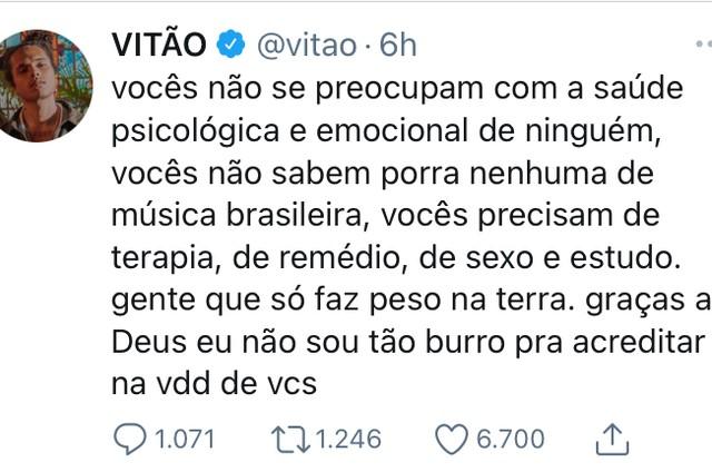 Vitão no Twitter (Foto: Reprodução)