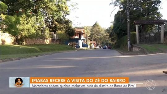 Zé do Bairro vai a Barra do Piraí conferir falta de quebra-molas nas ruas