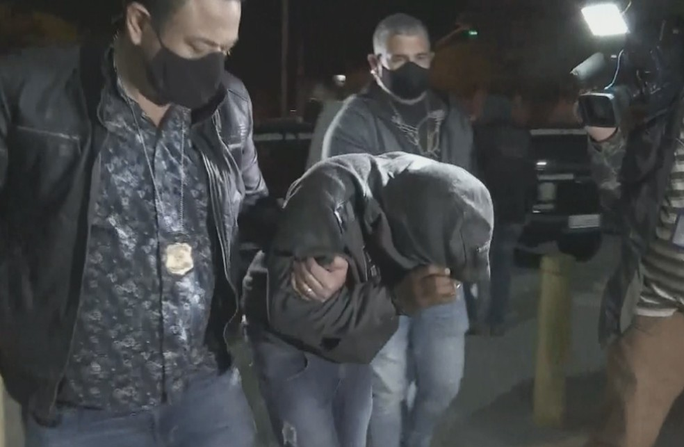 Suspeito preso em SP teve participação direta no ataque a bancos em Botucatu — Foto: TV TEM/Reprodução