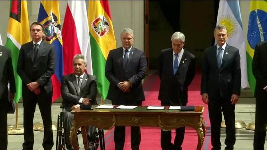 Líderes da América do Sul criam fórum Prosul em encontro no Chile