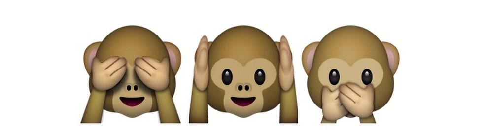 Os três macaquinhos mais famosos do WhatsApp — Foto: Reprodução/TechTudo