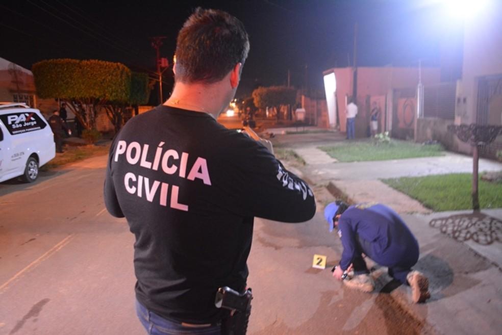 Crime ocorreu na madrugada deste domingo, 20, em Ariquemes — Foto: Jeferson Sanches/ 190 Urgente