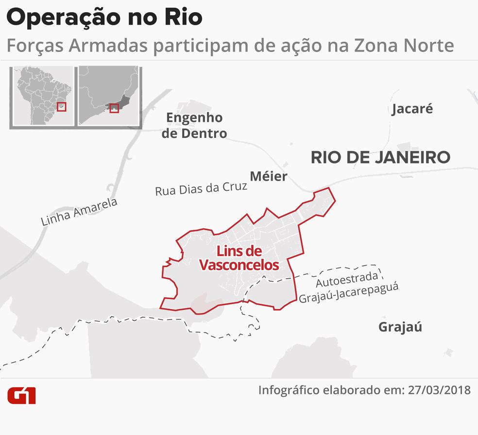 Ofensiva fechou a Autoestrada Grajaú-Jacarepaguá (Foto: Infografia: Juliane Souza/G1)