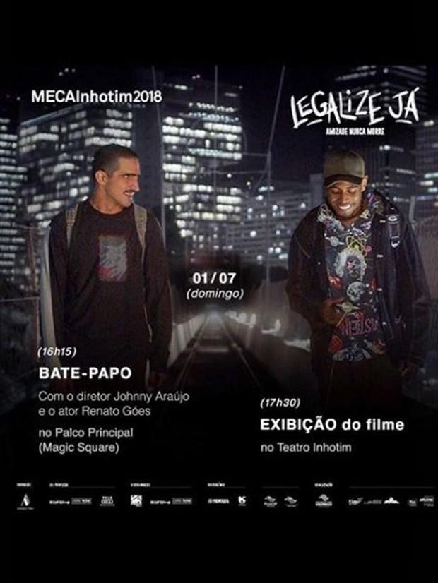 Cartaz de Legalize Já na MECA em Inhotim (Foto: Reprodução/Instagram)