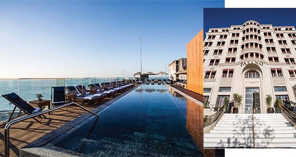 Arquitetura celebrada: A piscina do Hotel Fasano, com projeto de Isay Weinfeld tem vista para a Baía de Todos-os-Santos.   (Foto: divulgação)