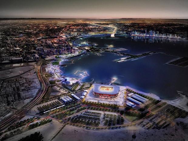 Copa do Mundo 2022: noite na cidade de Doha, no Qatar (Foto: Divulgação )