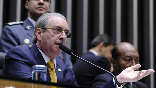 Eduardo Cunha na sessão da Câmara dos Deputados que discute o impeachment (Foto: Alex Ferreira / Câmara dos Deputados)