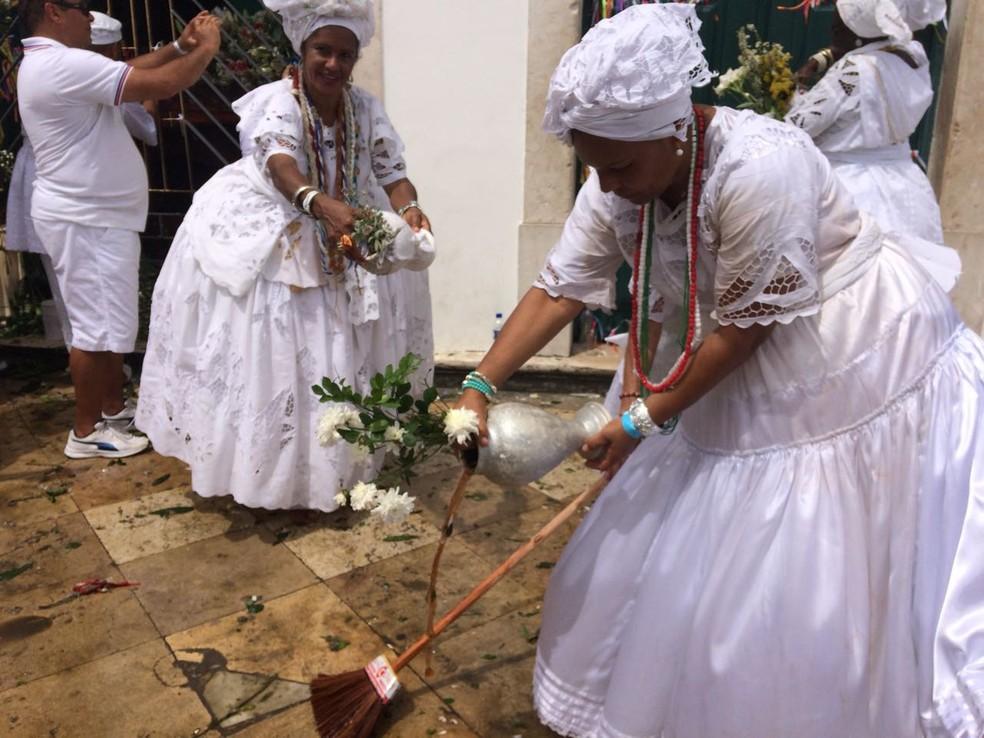 Lavagem do Bonfim (Foto: Maiana Belo/G1)