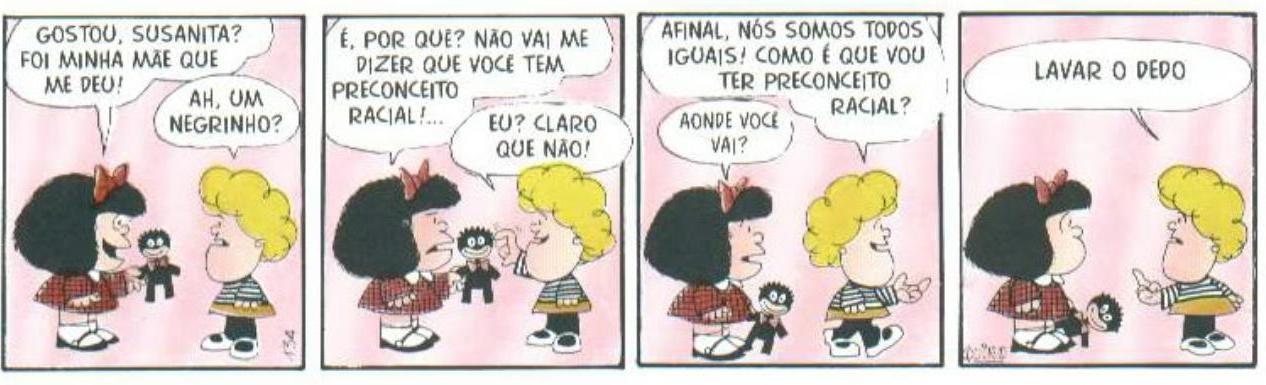 Mafalda y el prejuicio racial (Foto: Reproducción / Quino)