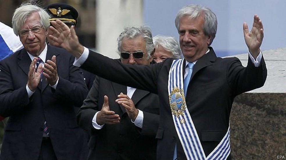 Tabaré Vázquez, em imagem de arquivo de 2018 — Foto: EPA
