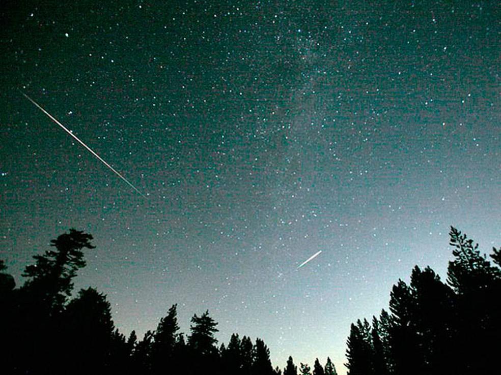 Chuva de meteoros, em imagem de arquivo — Foto: Divulgação/Nasa