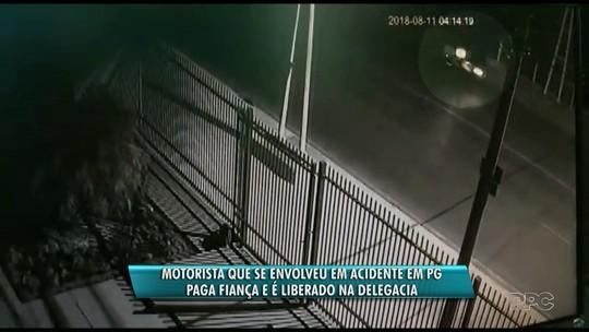 Motorista envolvido em acidente com três mortes em avenida de Ponta Grossa é liberado após pagar fiança