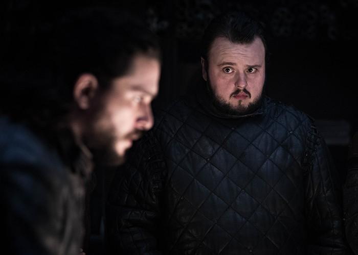 Os amigos Jon e Sam aparecem juntos depois da grande revelação do último episódio (Foto: Divulgação)