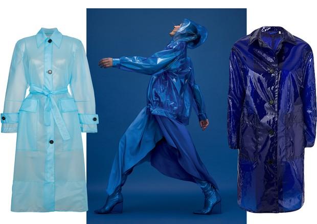 À esquerda, Calvin Klein, e, à direita, Aspesi  (Foto: Gui Paganini e Reprodução )