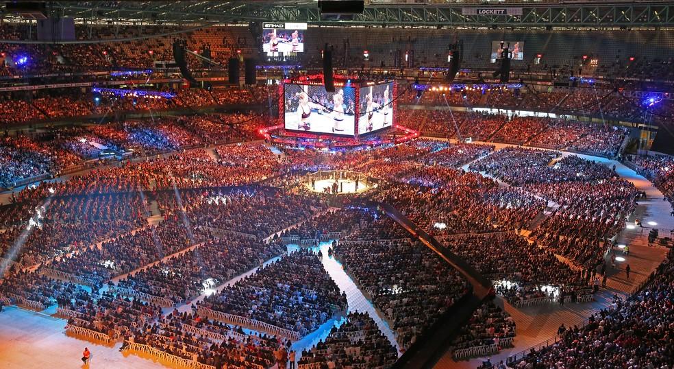 Marvel Stadium, em Melbourne, tem o recorde de público do UFC: 56.214 espectadores — Foto: Getty Images