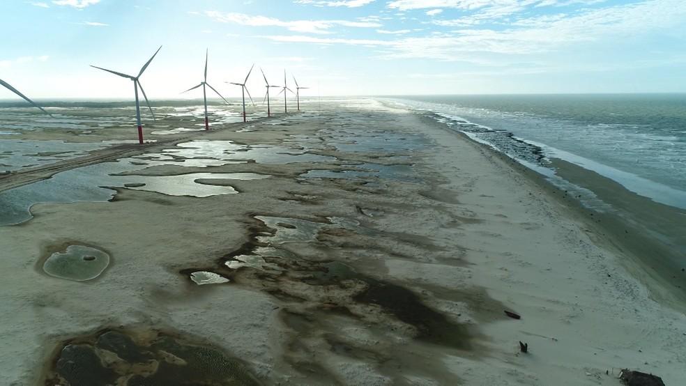 O nordeste é considerado a melhor região do mundo para capitação de ventos. (Foto: Reprodução/TV Mirante)