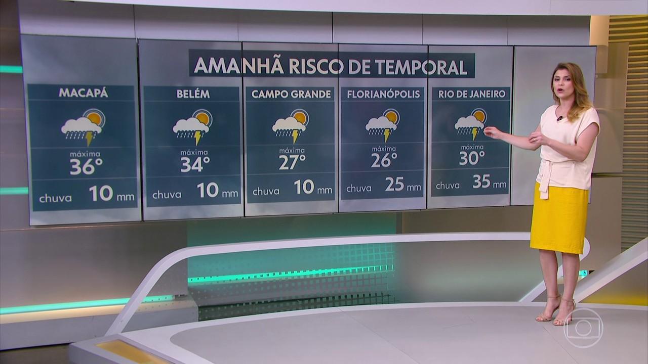 Previsão de chuva forte se espalha pela maior parte do país