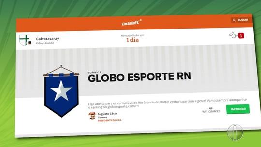 Liga Globo Esporte RN no Cartola FC está aberta para a temporada 2018