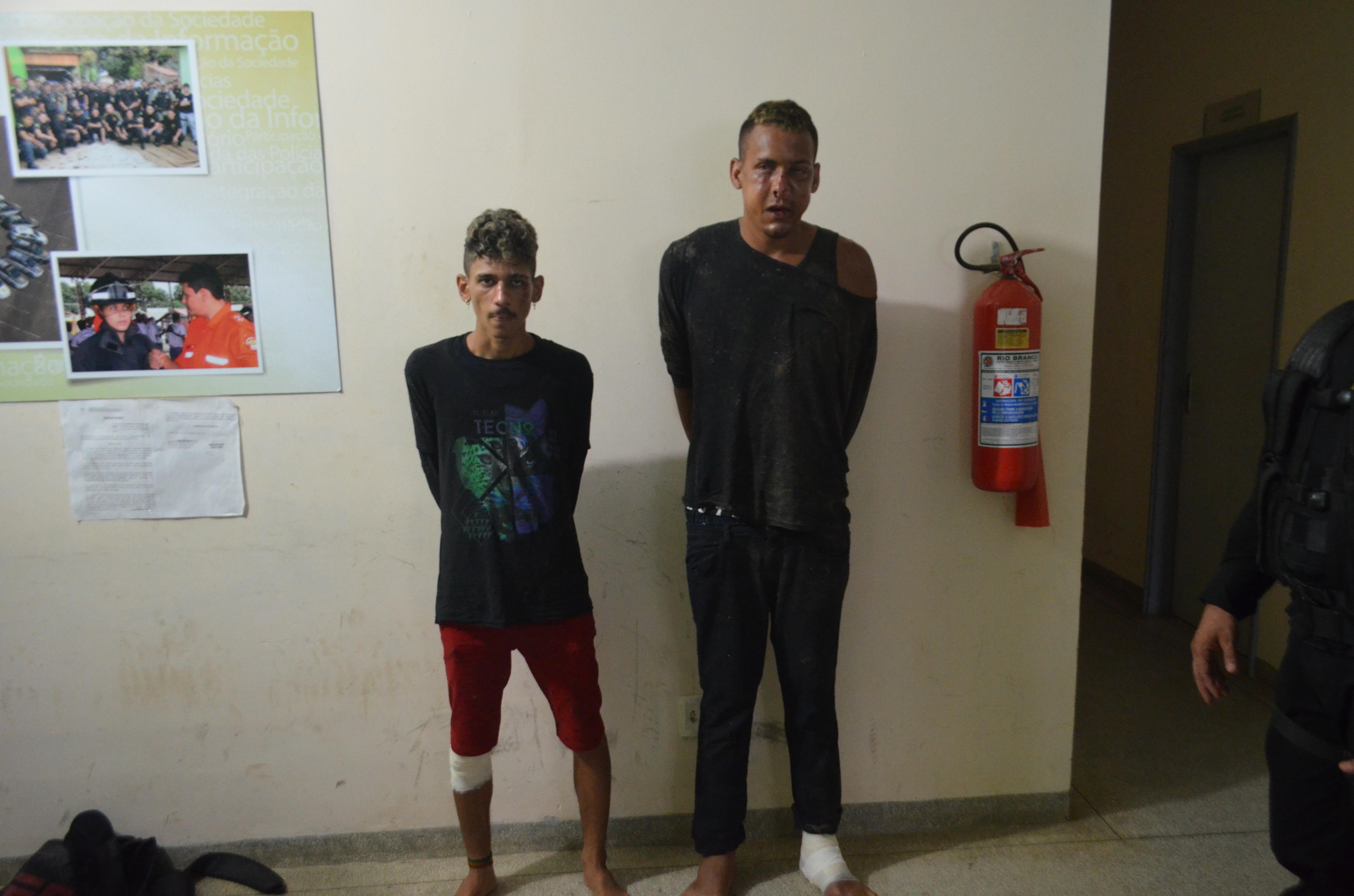 Assaltantes presos após sofrer acidente durante perseguição saíram do presídio há poucos dias
