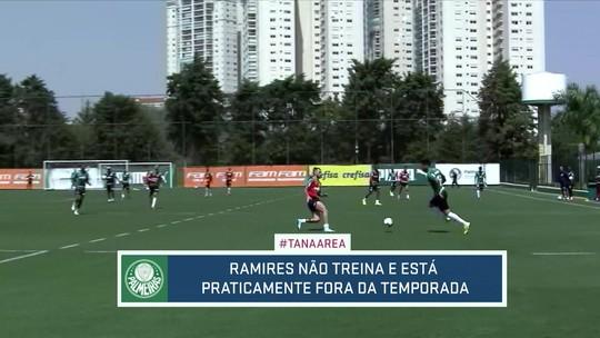 Ramires pode ficar fora do Palmeiras até o fim da temporada