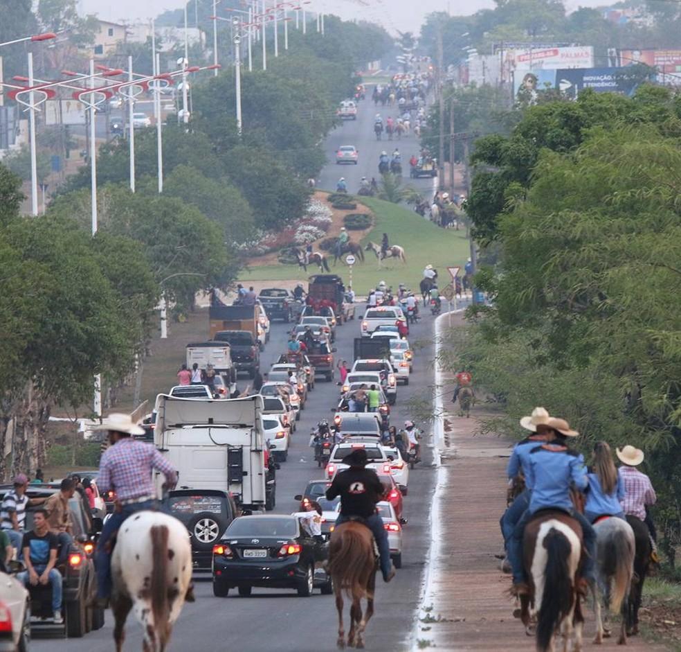 Cavalgada antecede a Exposição Agropecuária de Palmas — Foto: Divulgação/Paparazzo Fernando Alves Lima