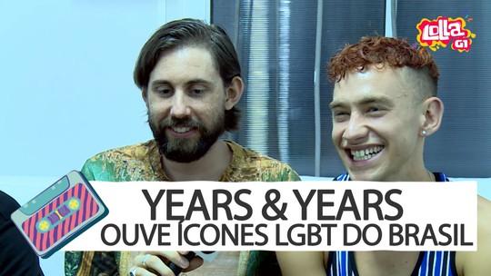 Years & Years ouve ícones LGBT do Brasil e aprova Ney Matogrosso: 'Quadris dele não mentem'