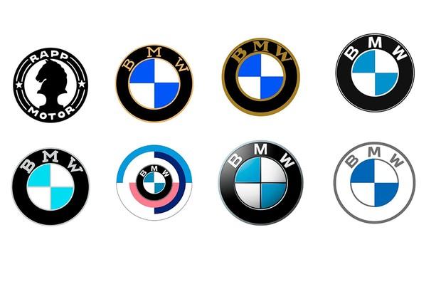 Evolução do logotipo da BMW (Foto: Montagem sobre arquivo)