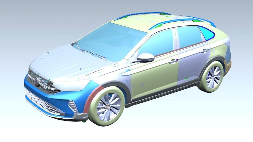 Volkswagen Nivus teve desenvolvimento 100% digital — Foto: Reprodução