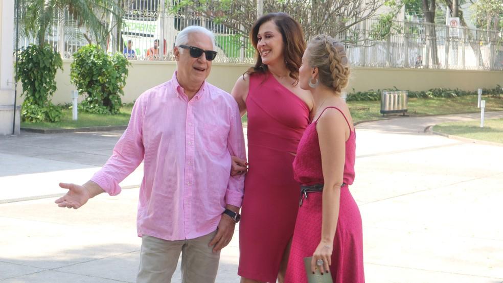 Antonio Fagundes e Cláudia Raia no 'Estrelas do Brasil' em São Paulo (Foto: Adolfo Nomelini/TV GLOBO)