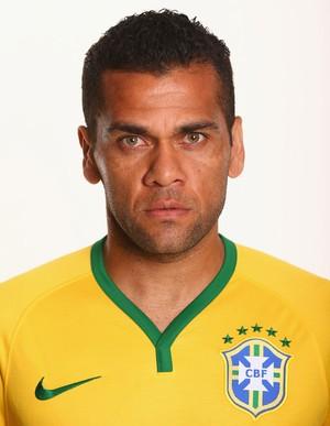 FOTO CRACHÁ Seleção brasileira - Daniel Alves (Foto: Agência Getty Images)