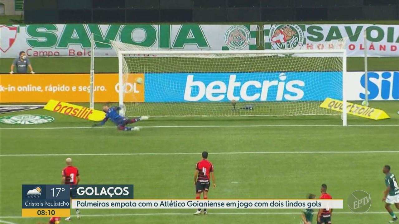 Palmeiras empata com o Atlético-GO no Allianz Parque